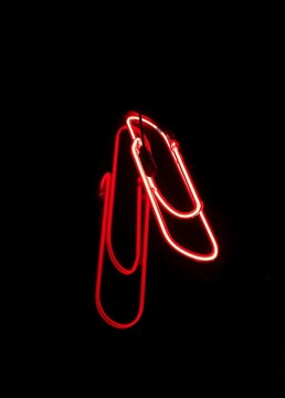 Red Paper Clip